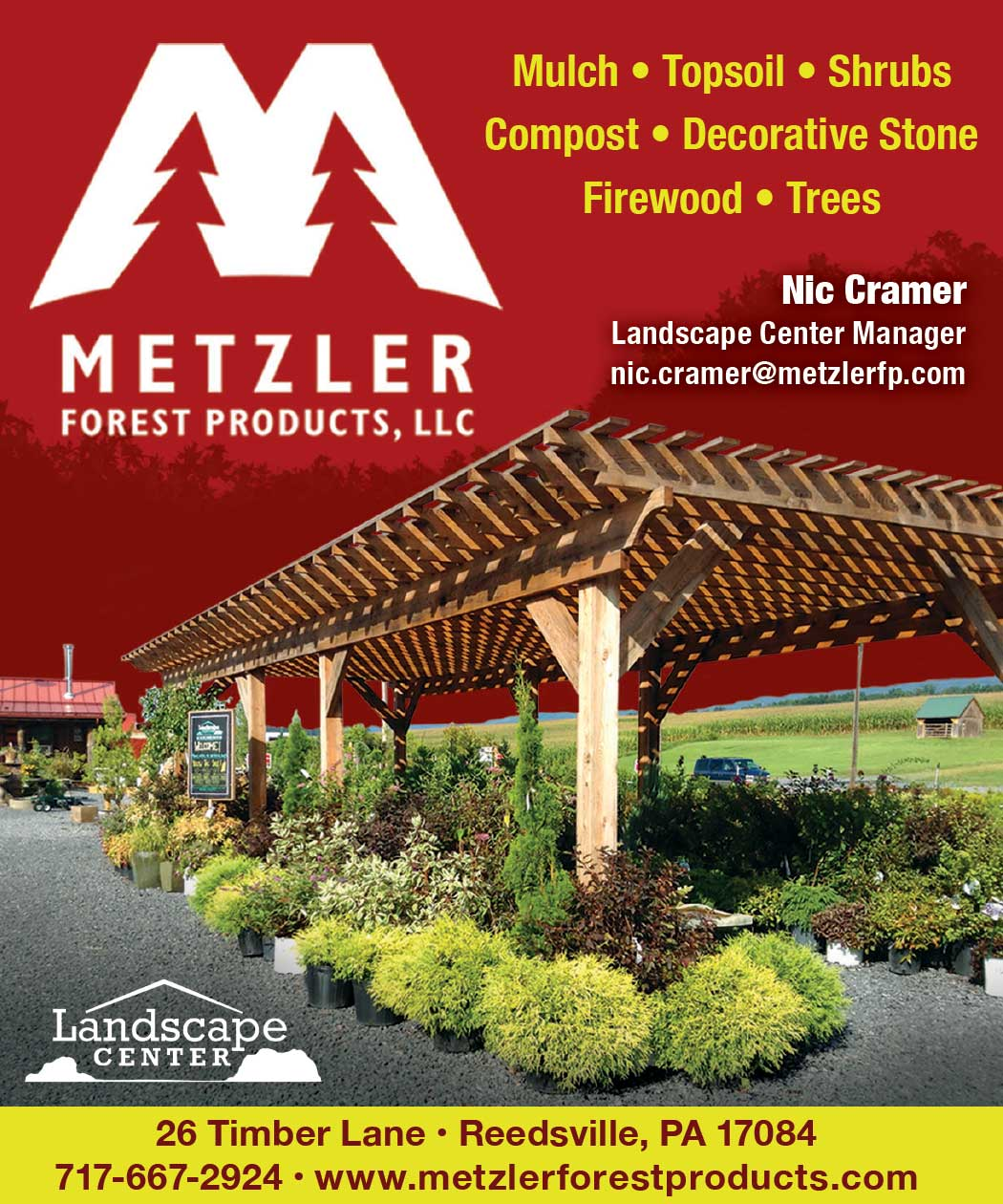 """<center>Metzler Forest Products, LLC 